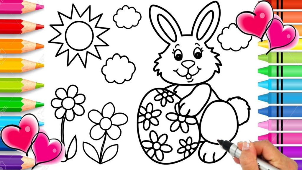 Easter Bunny Coloring Pages 2019