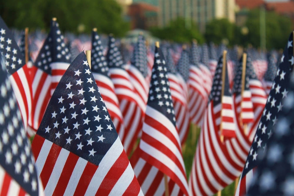 USA Memorial Day Flags